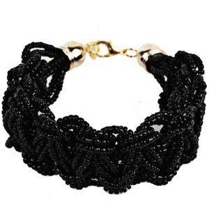 🇺🇸 3/$30 Boho Black Seed Bead Woven Bracelet